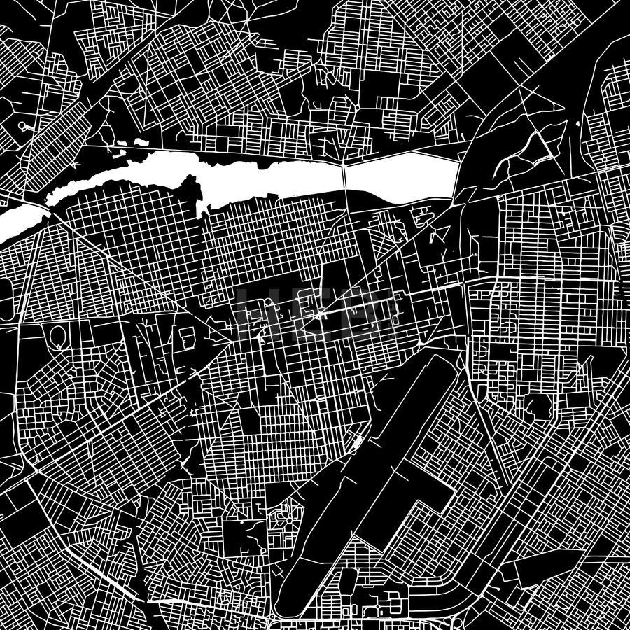 Ouagadougou Burkina Faso Downtown Vector Map