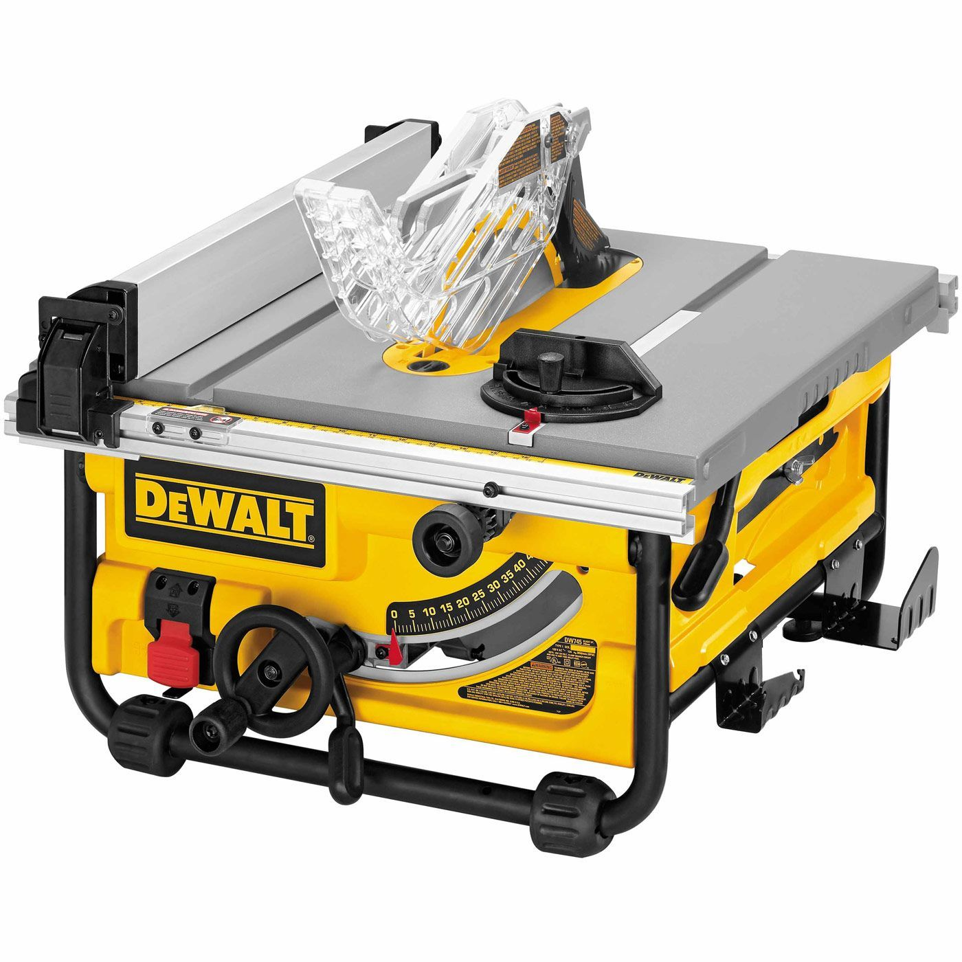 Dewalt Dw745 10 Compact Job Site Table Saw Portable Table Saw Jobsite Table Saw Table Saw