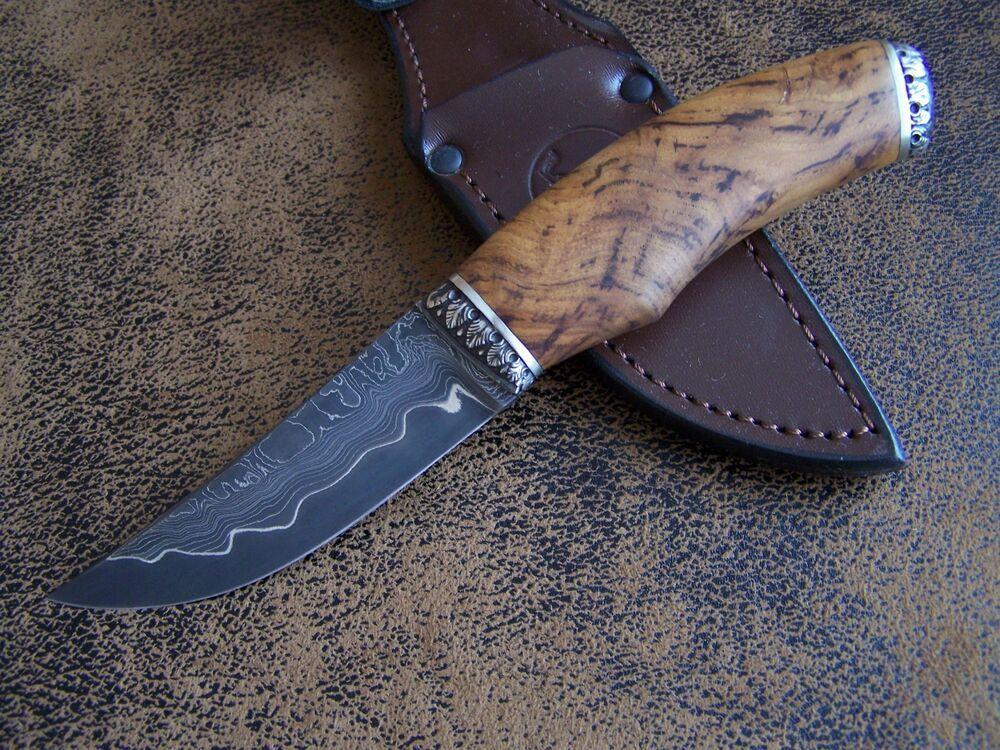 ebay sponsored slon custom outdoor jagdmesser messer high carbon san mai damaststahl 63 hrc