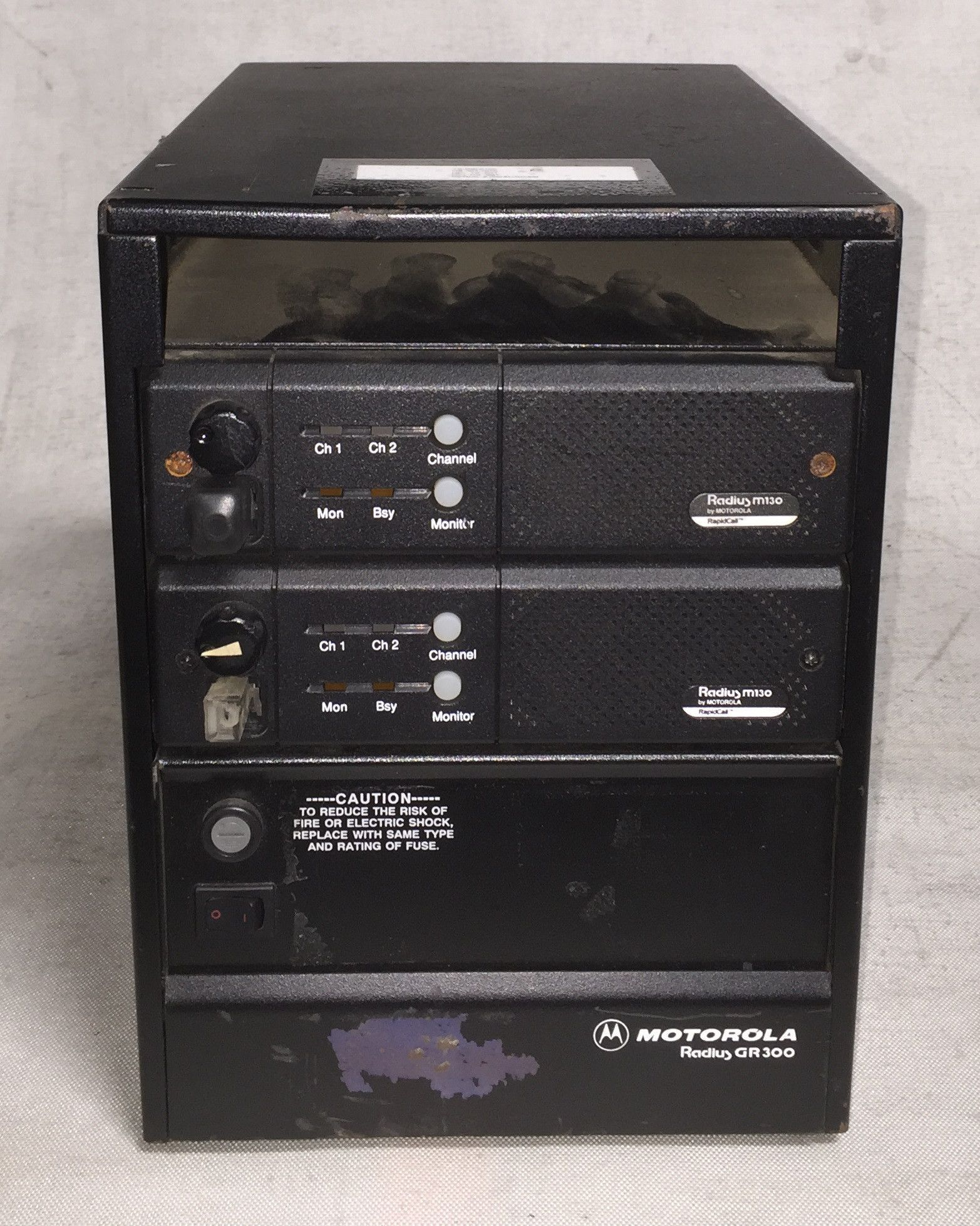 Motorola VHF Radius M130 Base Station Radio Repeater Package