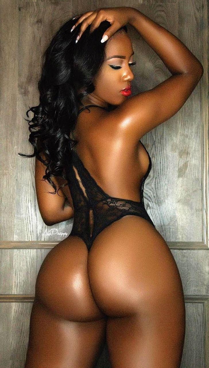 Sexy Ebony Female Model Stock Photo