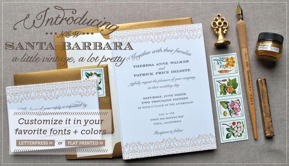 what do you say on wedding invitation%0A New Santa Barbara Wedding Invitations by Delphine