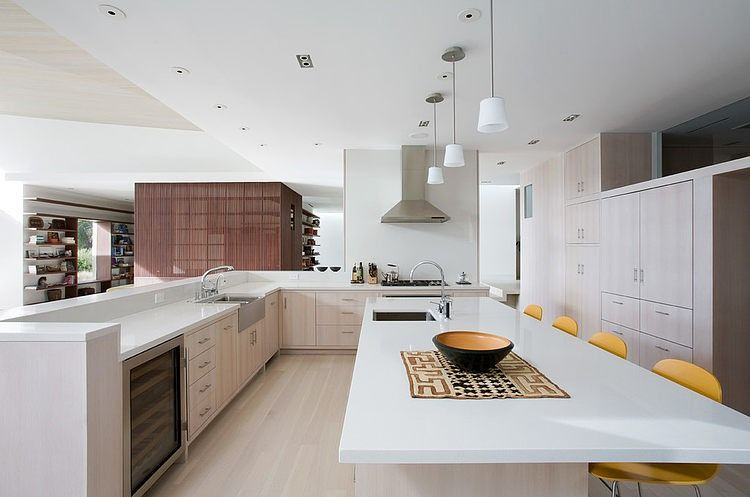 Mill Valley Residence by Edmonds + Lee Architects Milling - küche mit kochinsel grundriss