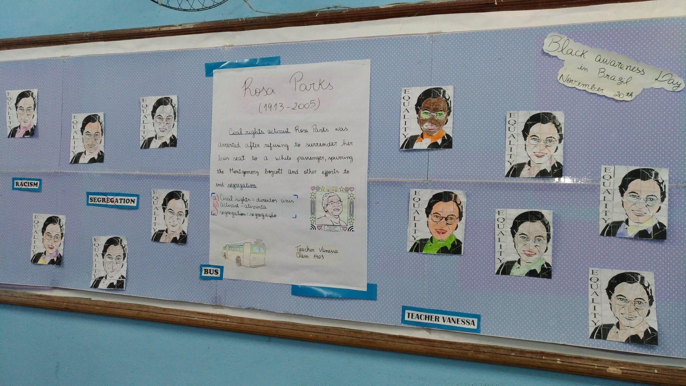 Rosa Parks Bulletin Board Rj Brazil