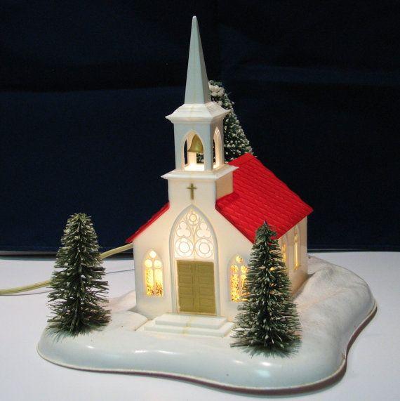 Noma Christmas Decorations: Vintage Noma Lights Musical Christmas Church