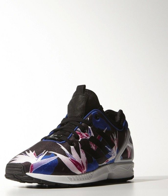 c63d9099afcc2 Adidas ZX Flux Womens Black White Blue Red1 being unfaithful limited offer