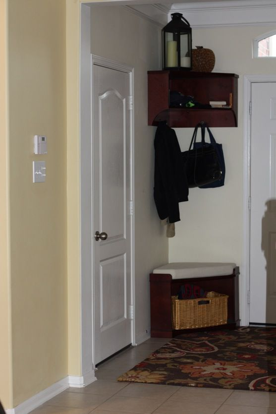 This Is A Really Neat Idea For A Small Corner Near A Back Entry