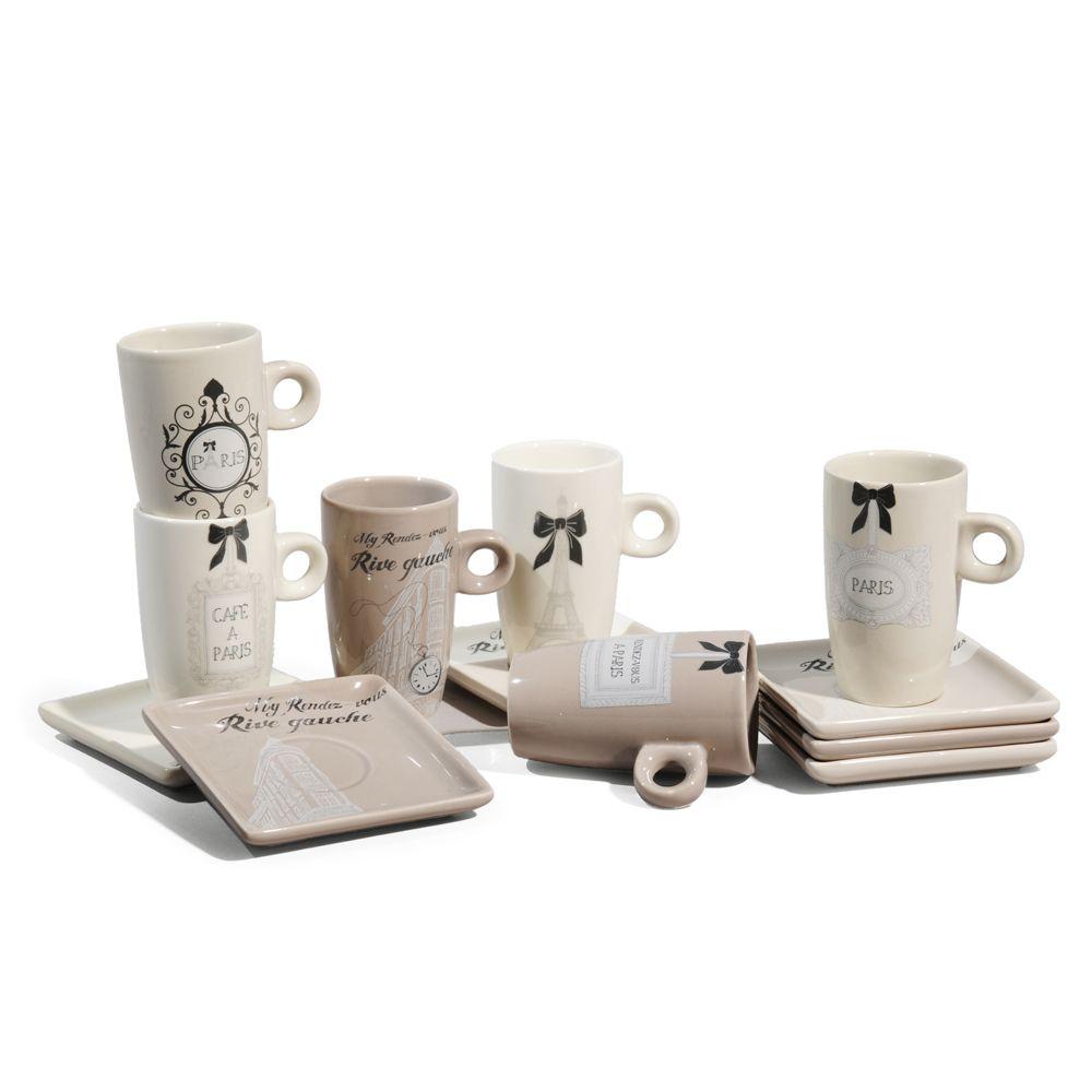 Coffret 6 tasses caf rive gauche liste pour moi id e id e pinterest coffret - Tasse a cafe maison du monde ...