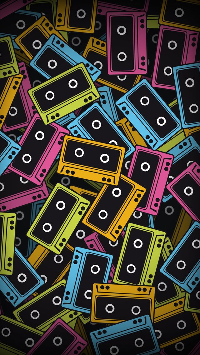 Audio tapes iPhone 5s Wallpaper http//www