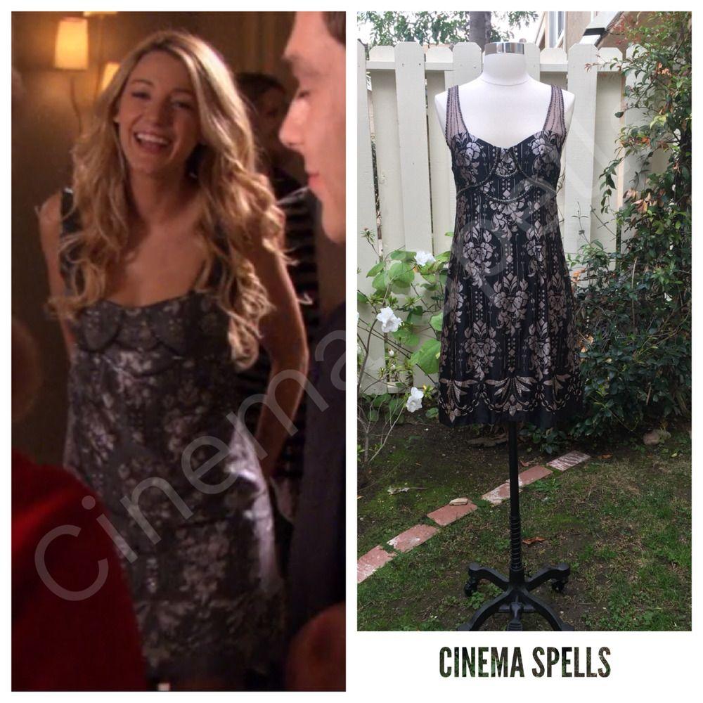 Nanette Lepore Cleopatra Beaded Silk Party Dress 2 ASO Serena Gossip ...