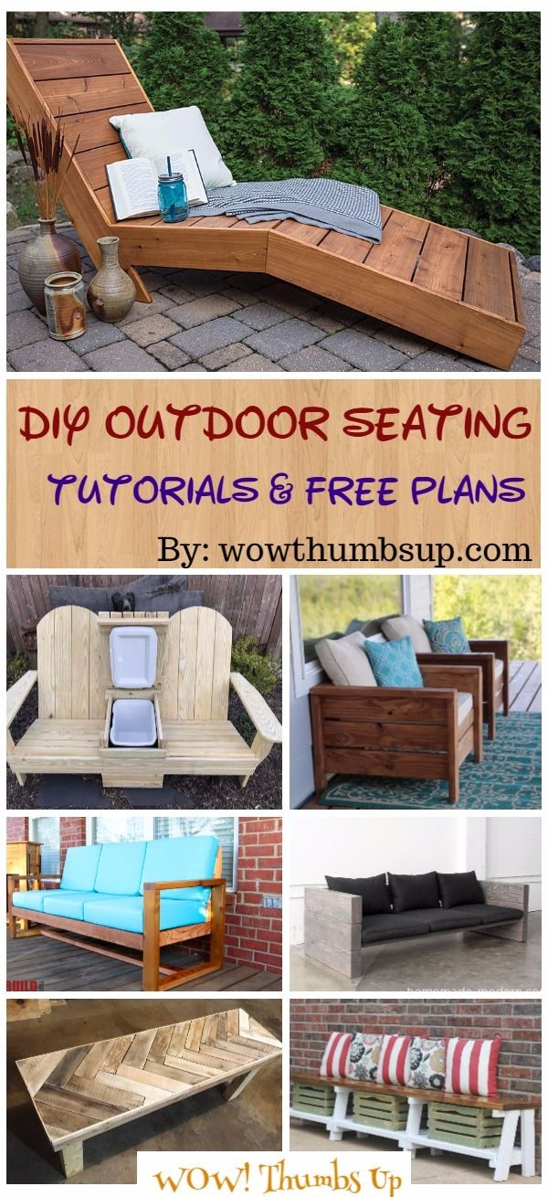 diy outdoor seating projects tutorials free plans diy ideas rh pinterest com