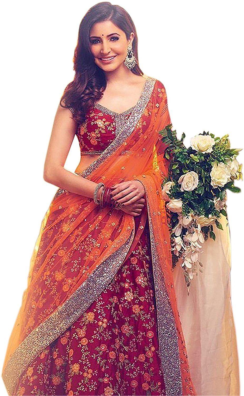3a46d1e2c6 ShreeBalaji Collection Women's Party Wear New Collection Special Sale Offer  Bollywood Navy Multicolour Heavy Bridal Wedding Lehenga Chaniya Ghagra Choli  ...