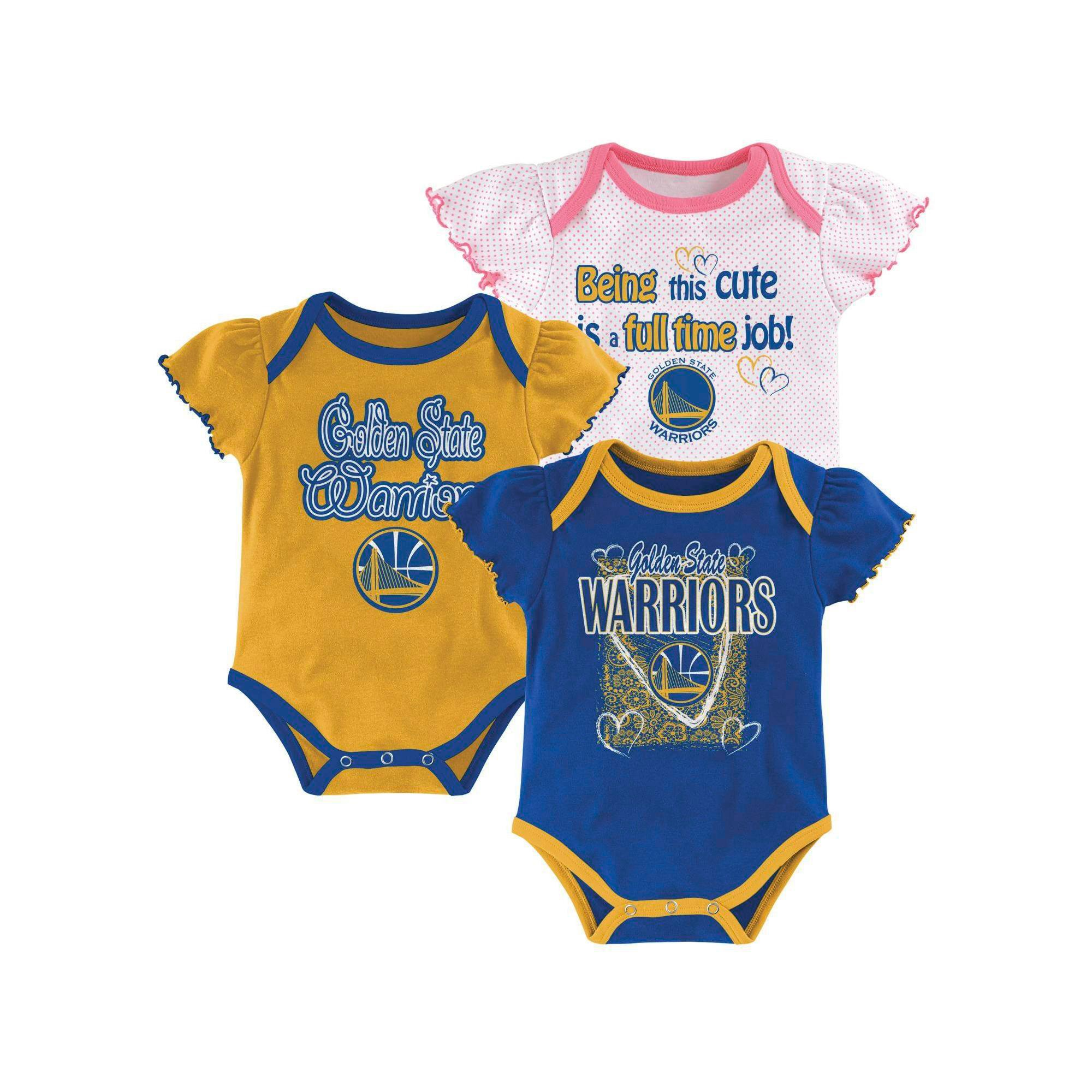 Golden State Warriors Girls Infant Body Suit 6 9 M Multicolored