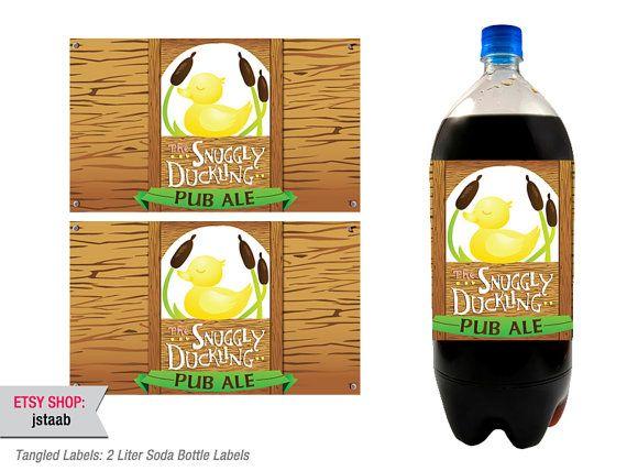 Tangled Labels 2 Liter Soda Bottle Labels by jstaab on Etsy, $7.00