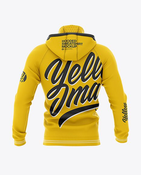 Download Men S Hooded Sweatshirt Mockup Back View In Apparel Mockups On Yellow Images Object Mockups Clothing Mockup Hoodie Mockup Hooded Sweatshirt Men