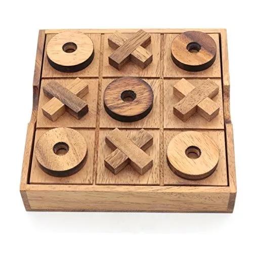 Bsiri Tictactoe Juegos De Mesa De Madera Ceros Y Cruces Romp – $ 58.900