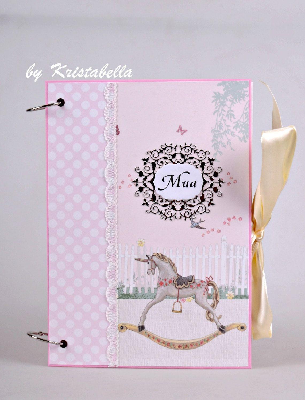 Baby girl scrapbook ideas - Baby Girl Scrapbook Album Handmade Memory Book Newborn Baby Photo Album First Year