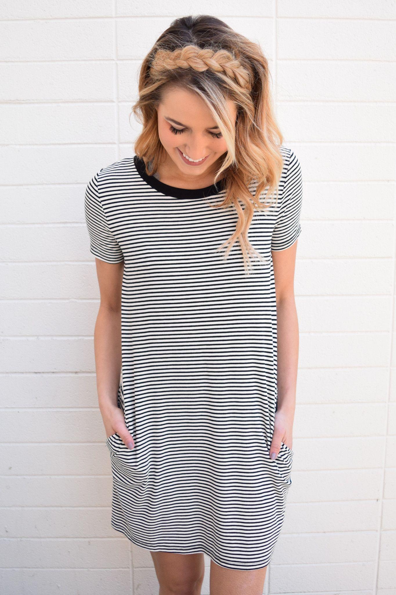 Simply Striped Tee Shirt Dress Striped Tee Shirt Dress Tee Shirt Dress Shirt Dress [ 2048 x 1365 Pixel ]