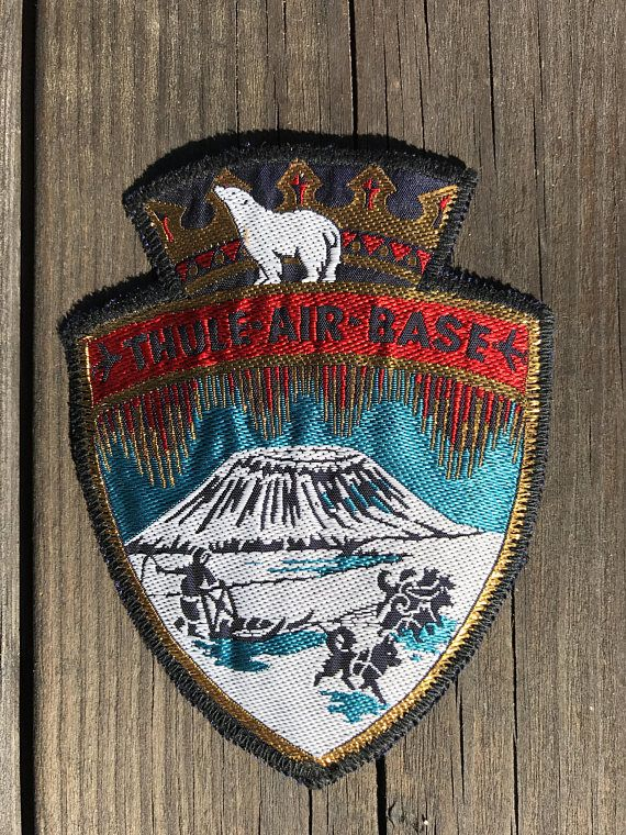 Rare Vintage Military Patch, Thule Air Base, From the 1960's