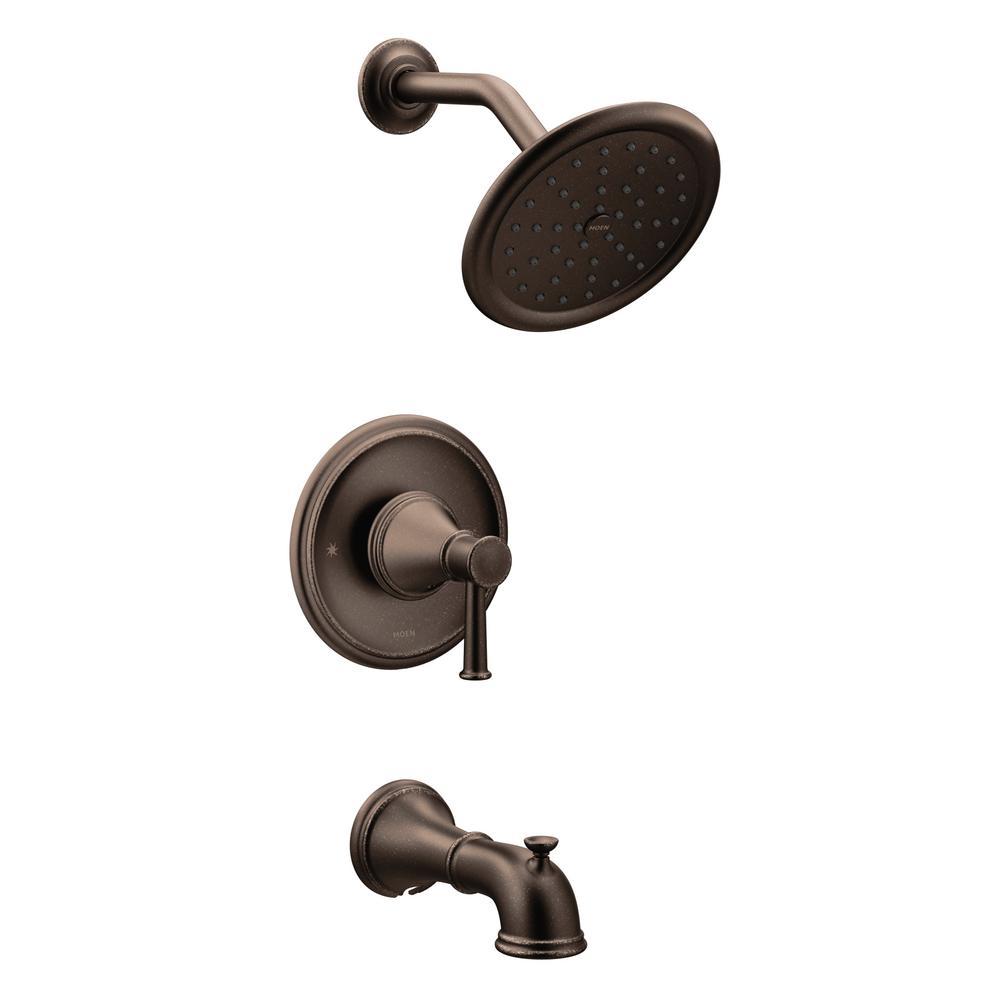 moen belfield single handle 1 spray posi temp tub and shower faucet rh pinterest com