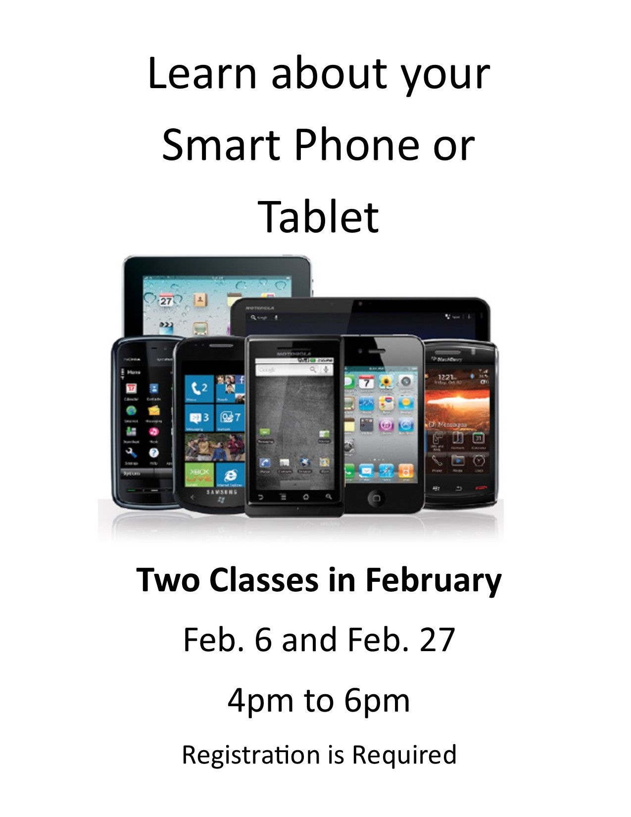 The Lepper Library is offering two Smart Device classes in