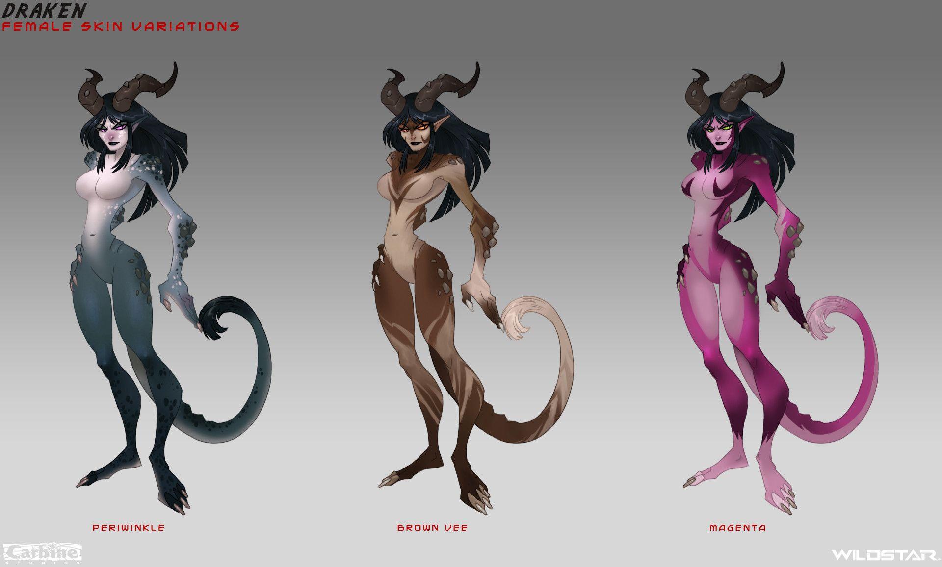 ArtStation - Draken Female Skin Variation, Johnson Truong