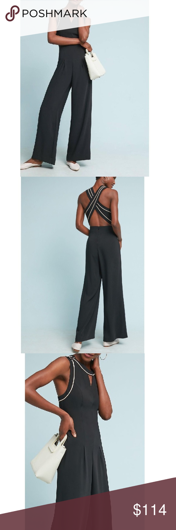 e344d908710a Anthropologie Whitney Tailored Jumpsuit  158 Sz 0 New With Tag  Anthropologie Whitney Tailored Jumpsuit Sz 0