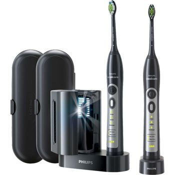 Philips Sonicare FlexCare Whitening Edition Rechargeable Toothbrush 2-Pack (Black)