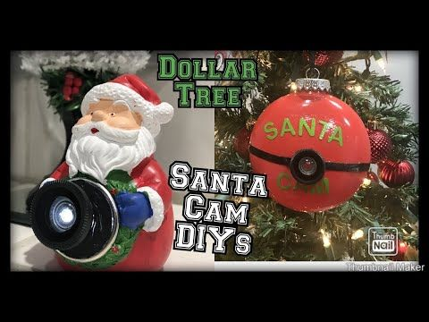 Dollar tree Santa cam diy / dollar tree Santa cam ideas / perfect for Christmas