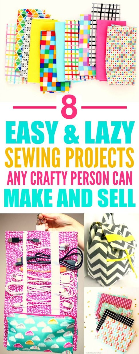 8 Easy And Lazy Crafts You Can Make And Sell Sewing Diy Sewing