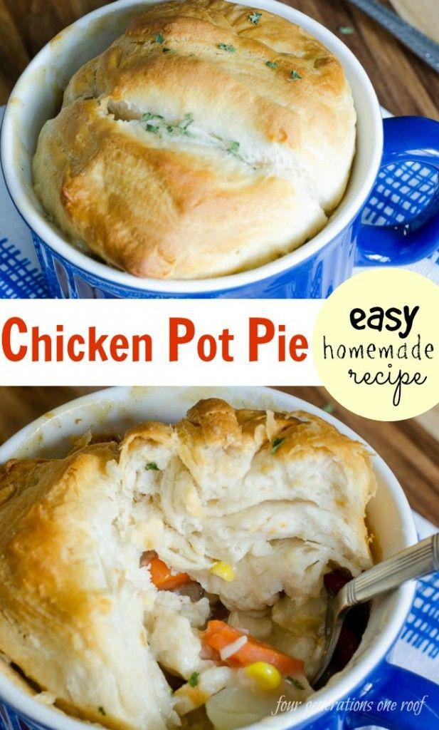 Homemade Chicken Pot Pie Recipe Eats And Drinks Recipes