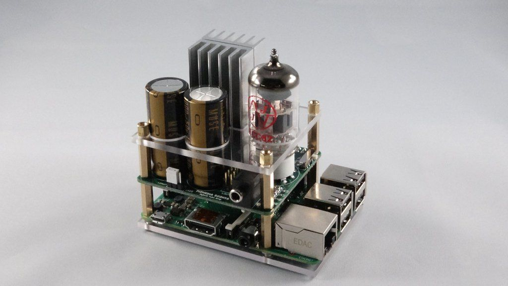 Raspberry Pi Gets a Vacuum Tube Amp Audio Add-On Board Music - p & l form