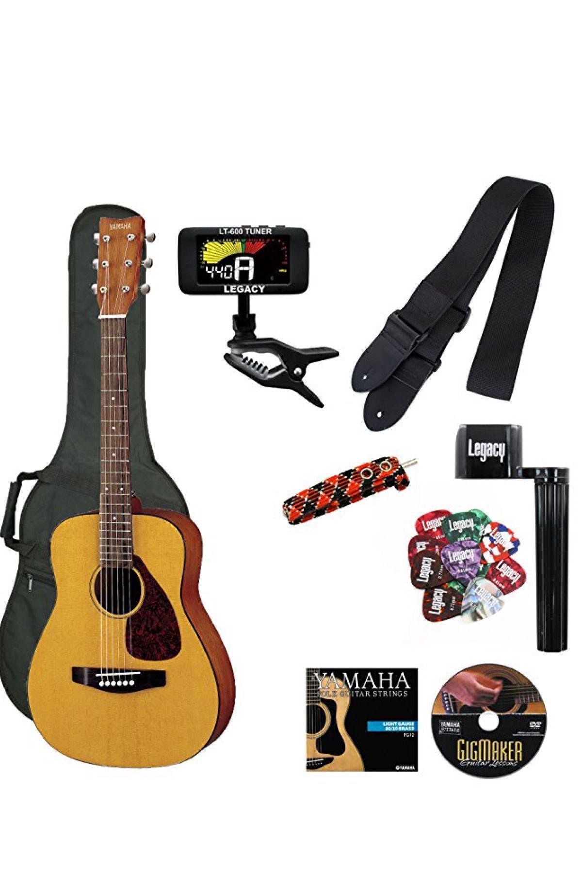 Yamaha Jr1 Fg Junior 3 4 Size Acoustic Guitar With Gig Bag And Legacy Accessory Bundle Guitar Acoustic Guitar Accessories Kids Acoustic Guitar Yamaha Guitar