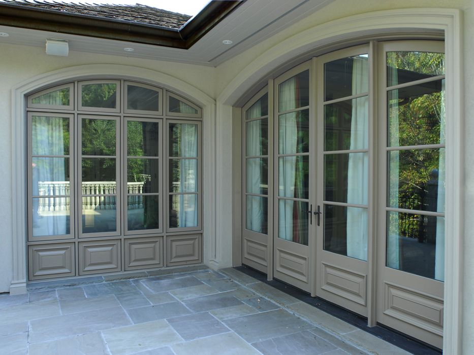 French Exterior Doors Steel: Loewen Metal Clad Wood French Doors Arched Side Lights