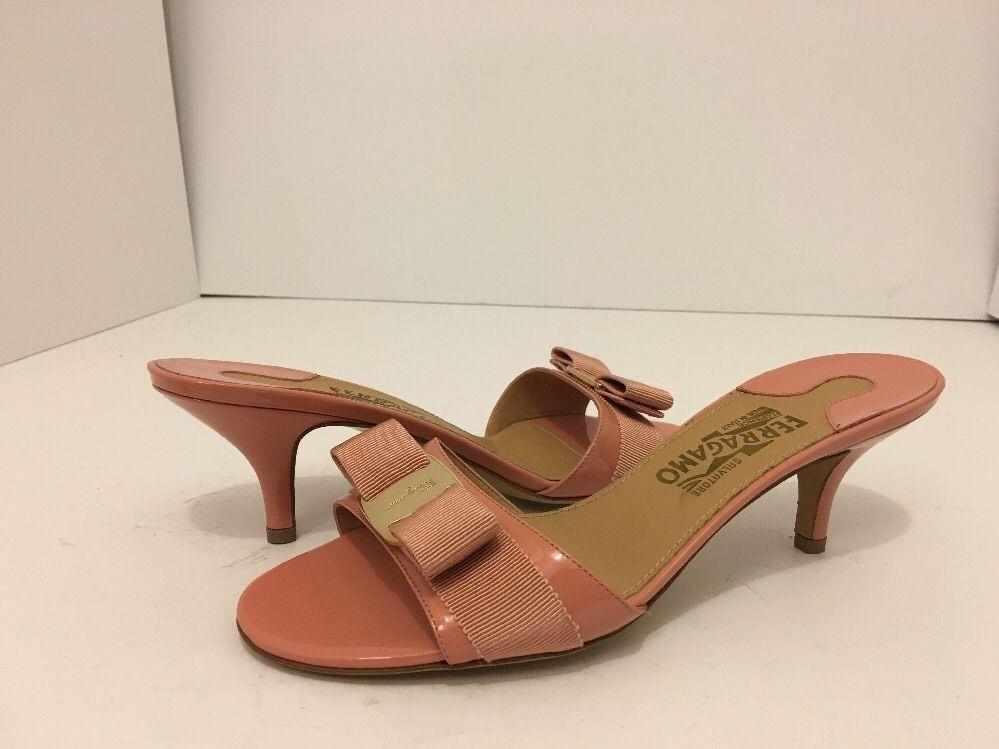 e700dbd4c8 Salvatore Ferragamo Glory 1 Blush Patent Leather Women's Slide In Heels  Sandal 8 #SalvatoreFerragamo #SlideInHeelsSandals #CasualParty