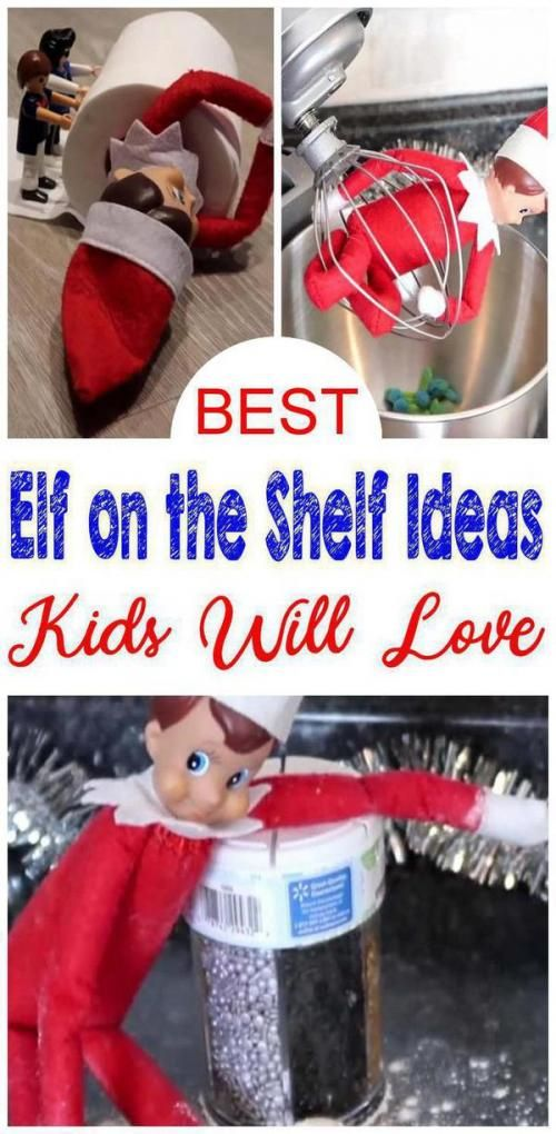 BEST Elf On The Shelf Ideas! Elf Ideas For Kids That Are Easy  Funny  Awesome  Creative. Get your Elf into mischief & more. Great ideas for boys girls toddlers for classroom and for adults at work. Check out the BEST Elf on the Shelf ideas that are STRESS FREE this holiday - Christmas season. #christmas #craftsbyseason #crafts #by #season #elfontheshelfideasfortoddlers