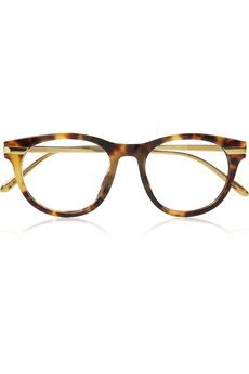 Linda Farrow   Tortoiseshell D-frame acetate optical glasses   NET-A-PORTER.COM