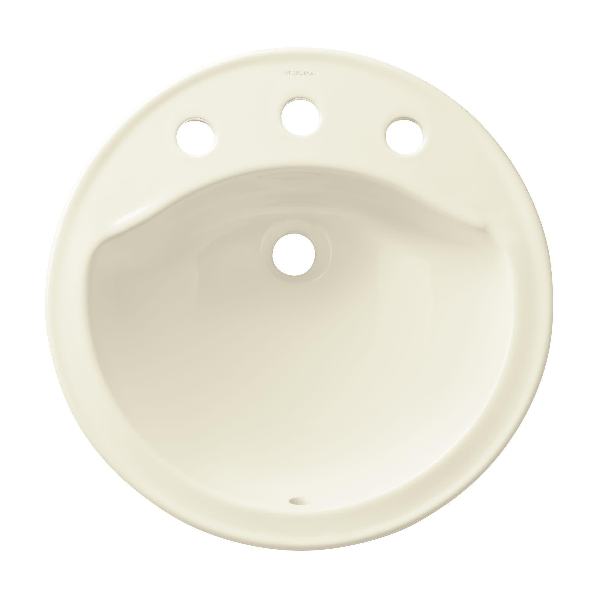 Sterling 441908 Modesto 19 Drop In Bathroom Sink Biscuit In 2019