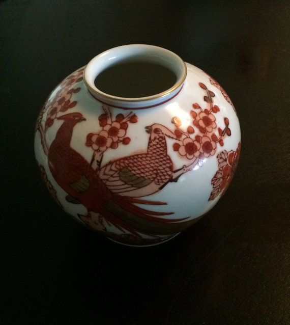 Gold Imari Hand Painted 5 14 Ginger Jar Vase With By Curioshop1