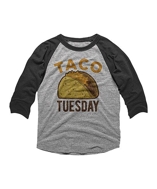 Vintage Taco Kids T-Shirt Long Sleeve Boys Girls T-Shirt