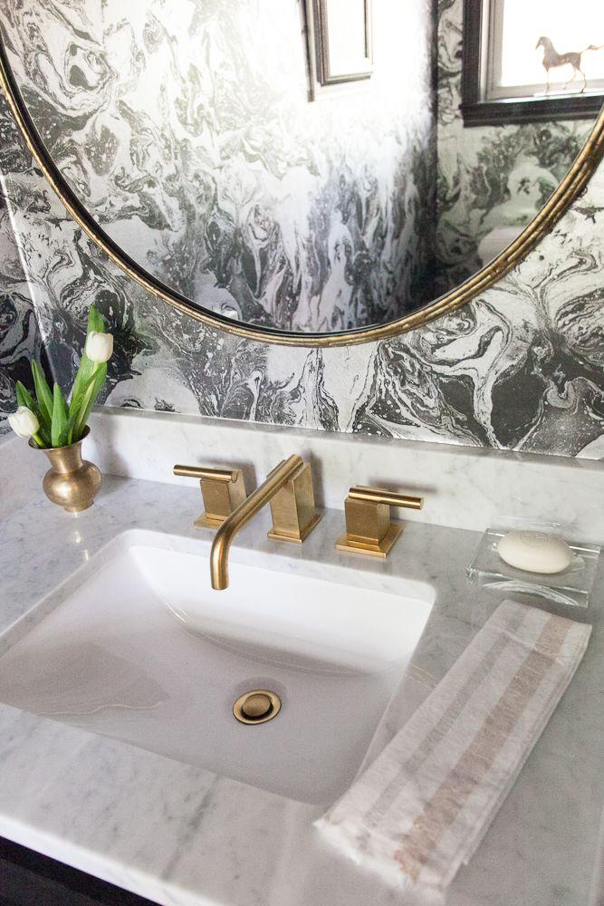 Marble Wallpaper   Major Bathroom Redo | Design Crisis