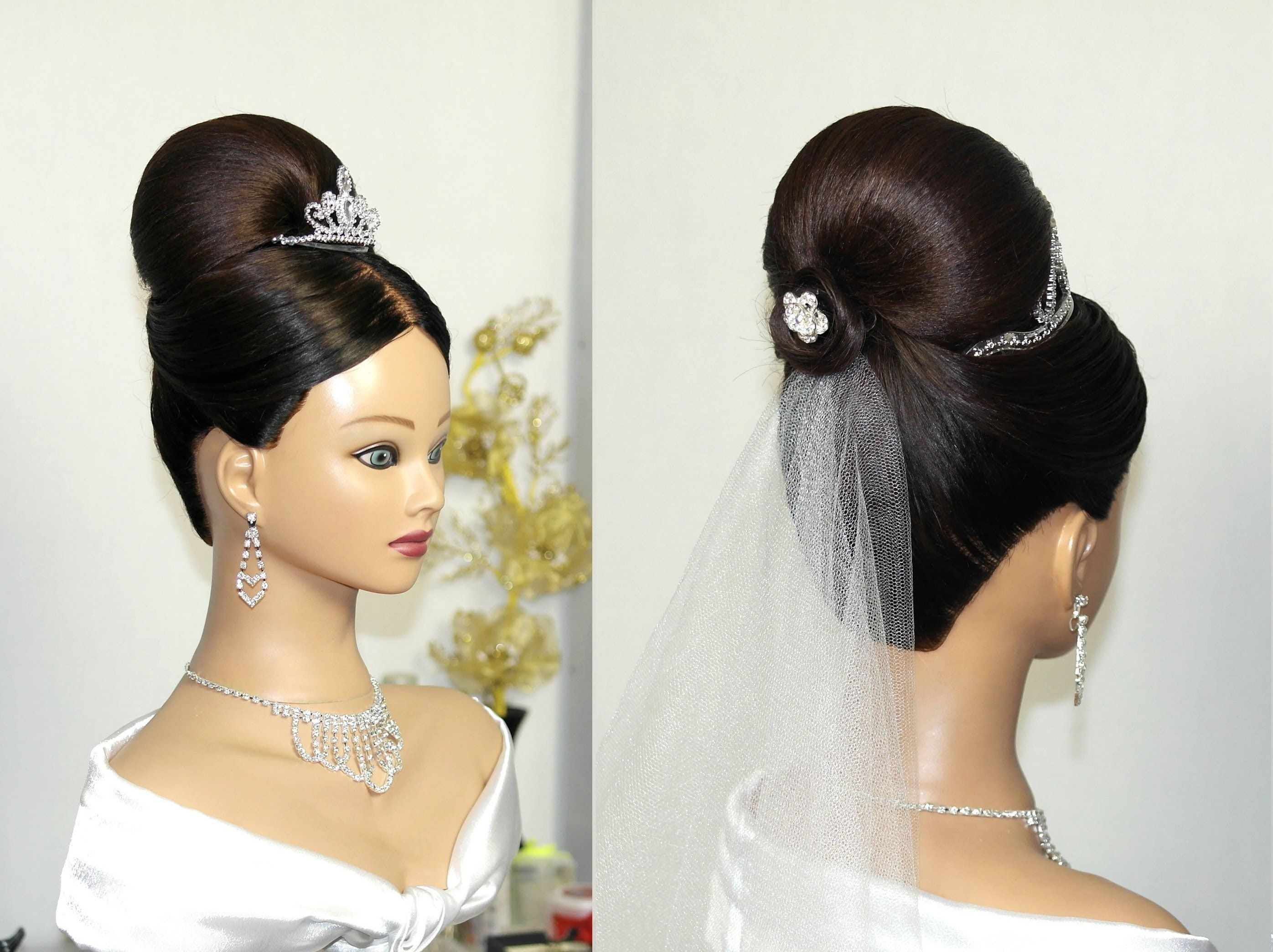 bridal updo. hairstyles for long hair. Свадебная прическа на
