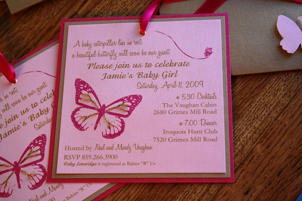 Beautiful Butterfly Invitation Wording