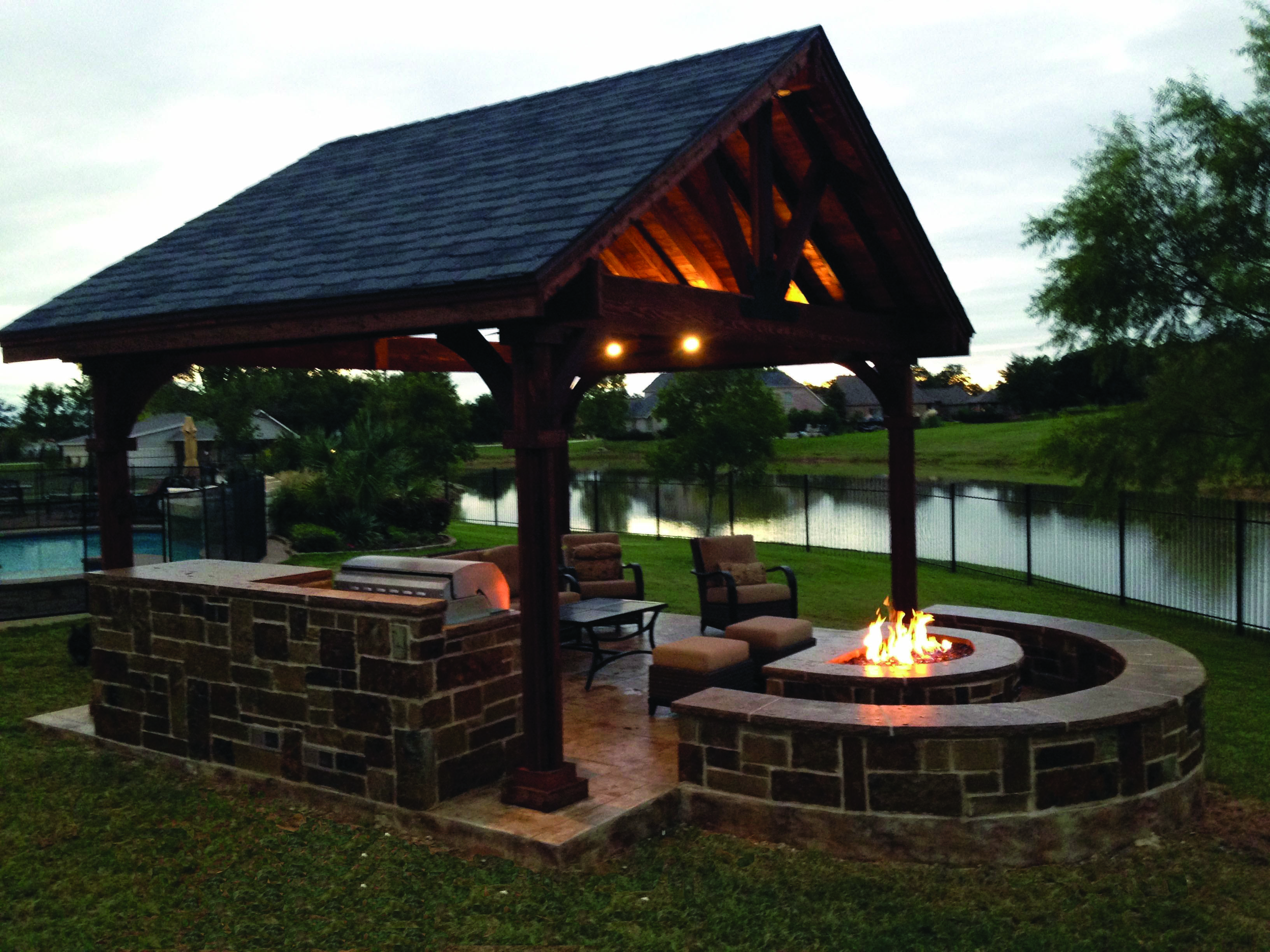 Fire Place Design Concepts For An Elegant Exterior Space Homes Tre Backyard Pavilion Backyard Gazebo Backyard Fire,United Airline Baggage Fees International