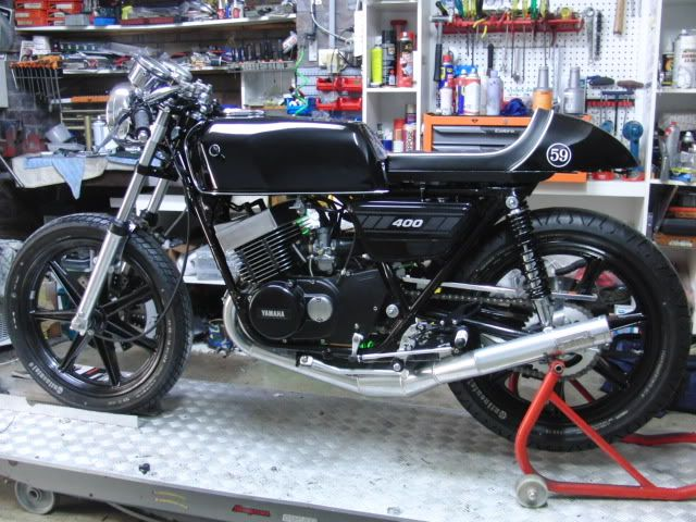 yamaha rd400 cafe racer   two strokes   pinterest   cafes, classic