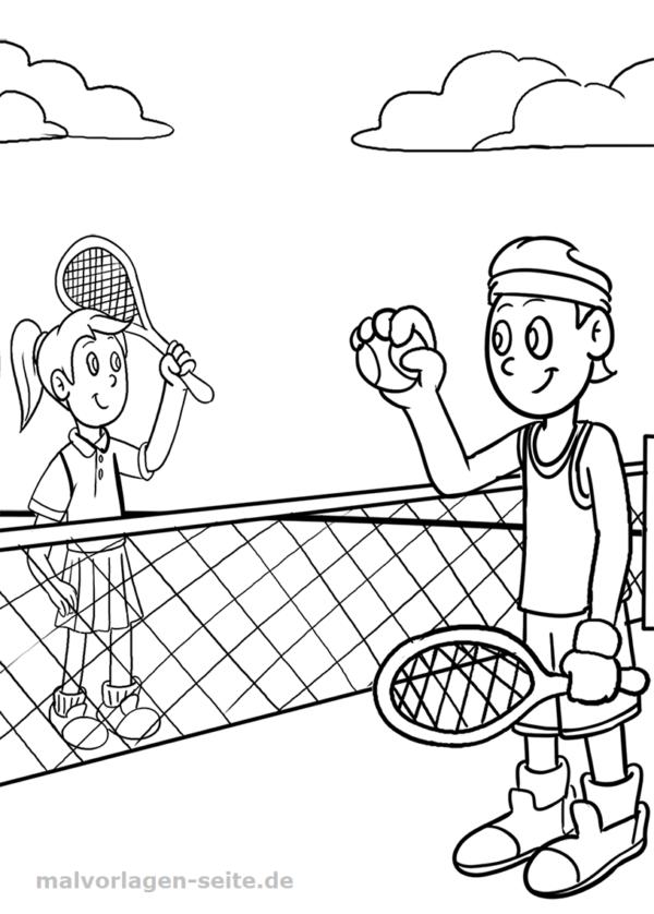 Malvorlage Tennis | Sport Kostenlose Ausmalbilder