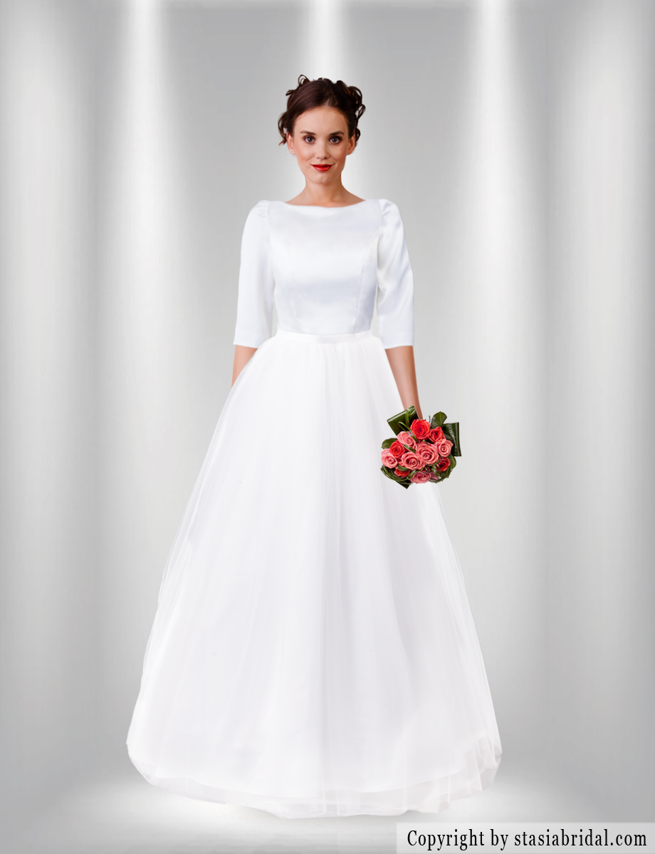 Modest wedding dress gown with sleeves wedding dress styles