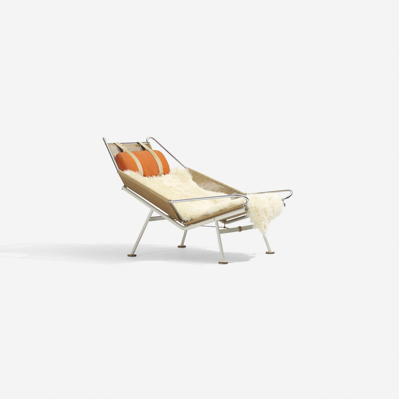 182: Hans Wegner / Flag Halyard lounge chair < Scandinavian Design, 8 May 2014 < Auctions   Wright