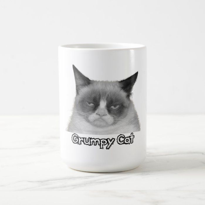 """Grumpy Cat Mug (""""Grumpy Cat"""" Text) - Custom Cat Mugs - Create..."""