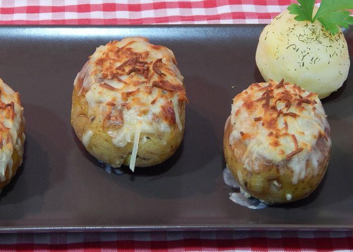 Receta De Patatas Rellenas Con Carne Picada Patata Rellena Patatas Rellenas De Carne Patatas